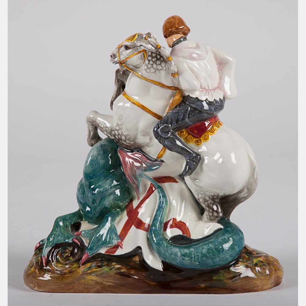 Two Royal Doulton Figurines, 20th Century, - 6