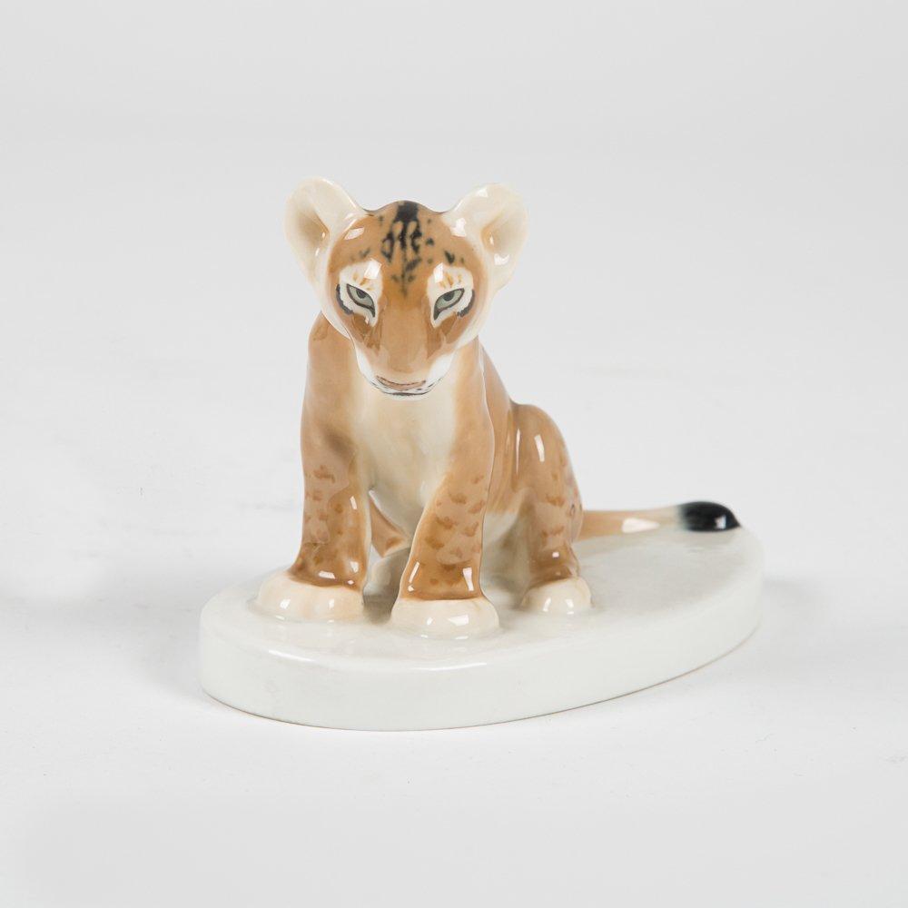 Two Meissen Porcelain Animal Figurines, 20th Century, - 2