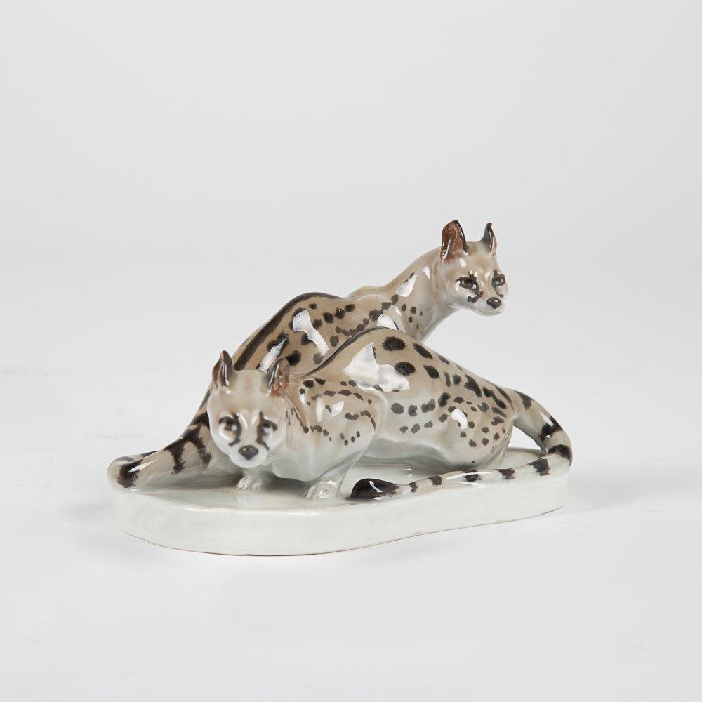 Two Meissen Porcelain Animal Figurines, 20th Century, - 3