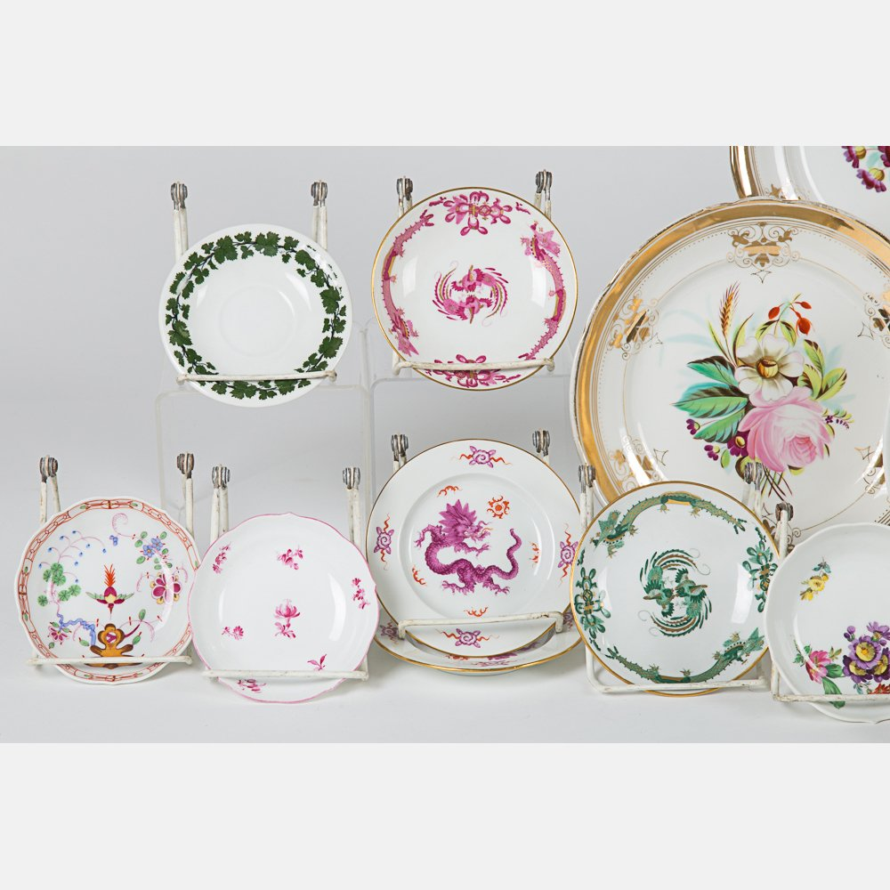 A Miscellaneous Collection of Porcelain Serving and - 2