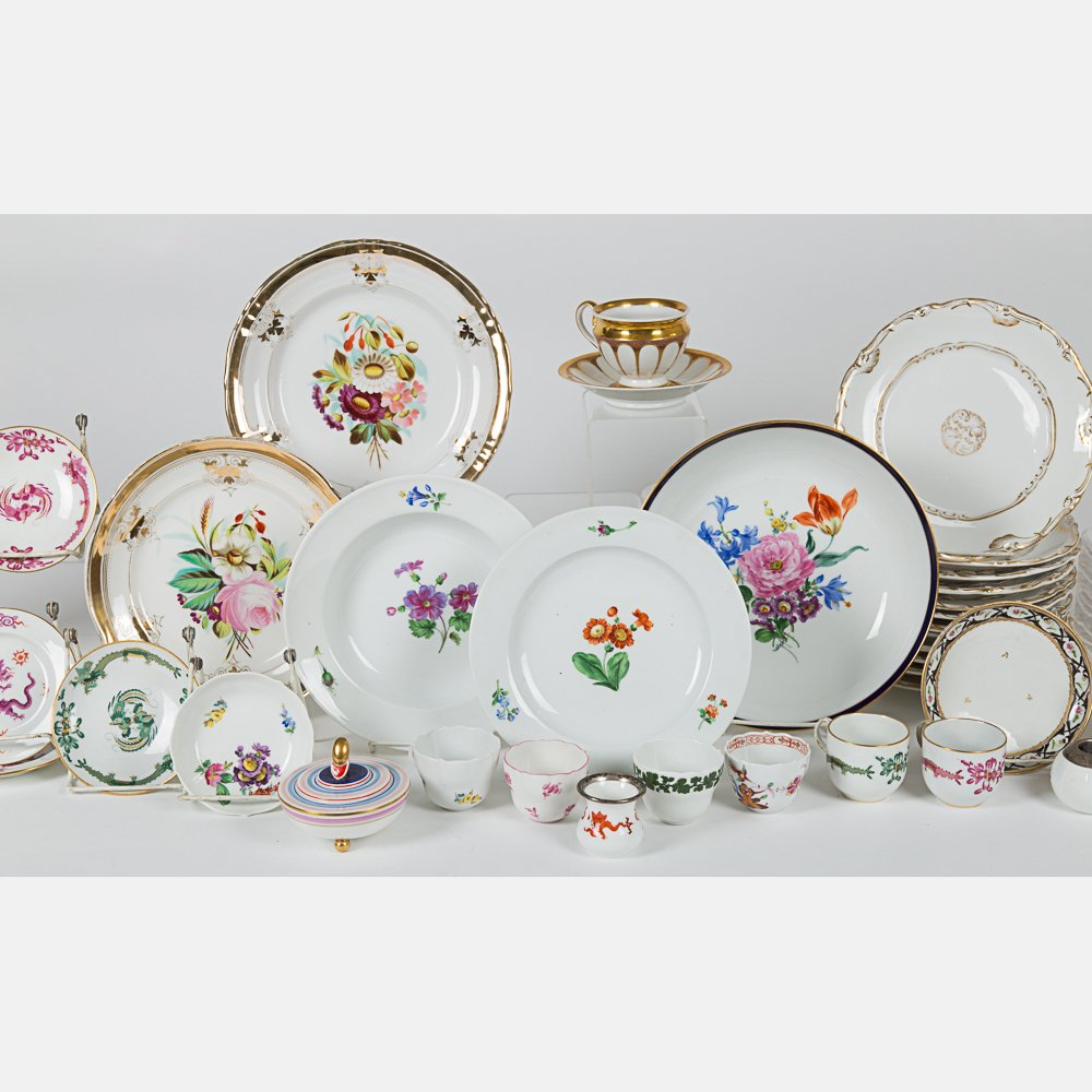 A Miscellaneous Collection of Porcelain Serving and - 3