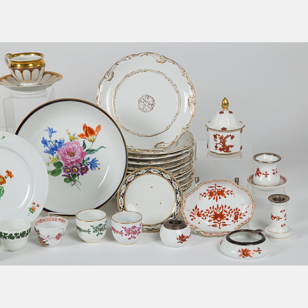 A Miscellaneous Collection of Porcelain Serving and - 4