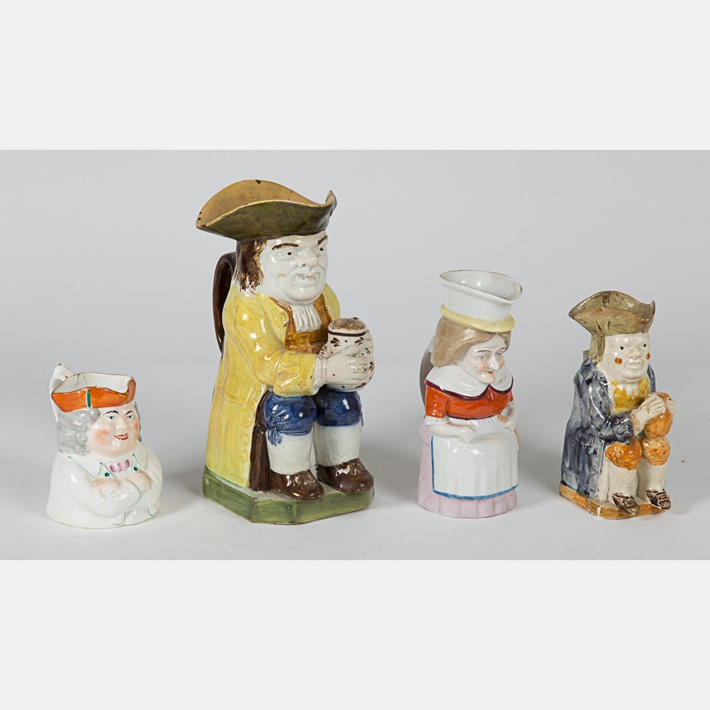 A Group of Four Staffordshire Toby Jugs, 18th/19th - 2