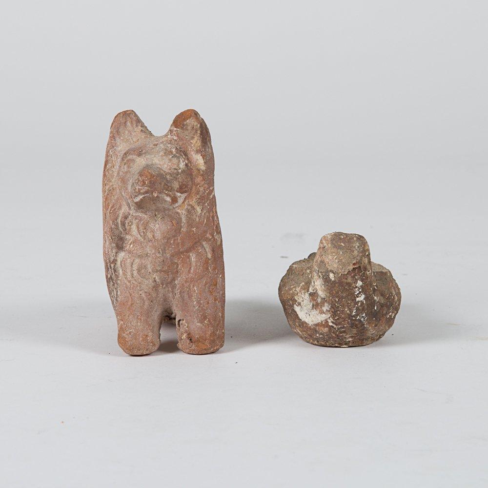 A Terracotta Roman Style Figure of Dog, 20th Century, - 2