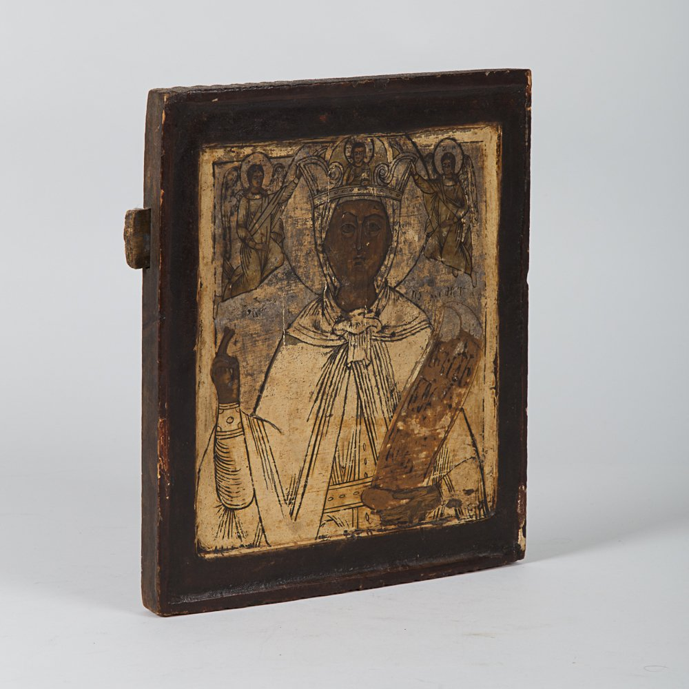 A Greek Painted Icon Depicting a Saint, 19th Century. - 2