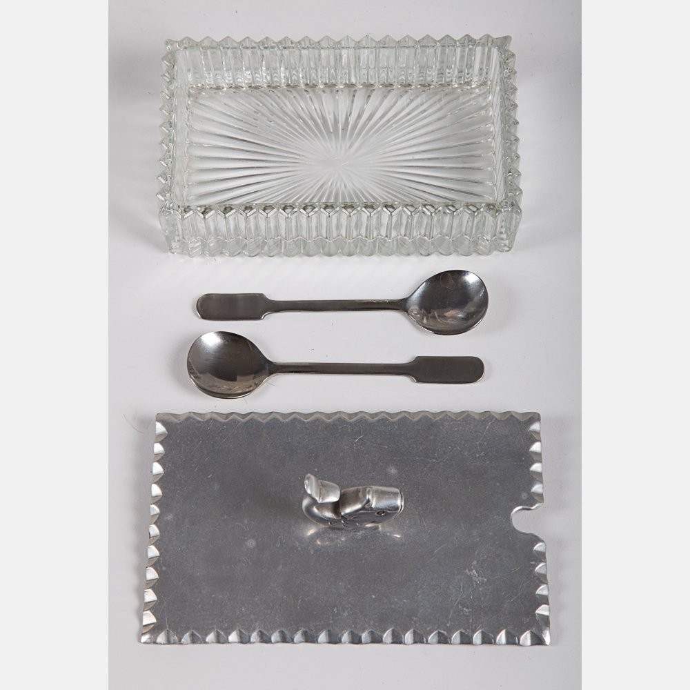 A Miscellaneous Collection of Hammered Pewter and - 4