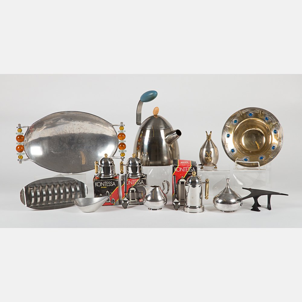 A Miscellaneous Collection of Pewter and Silverplated