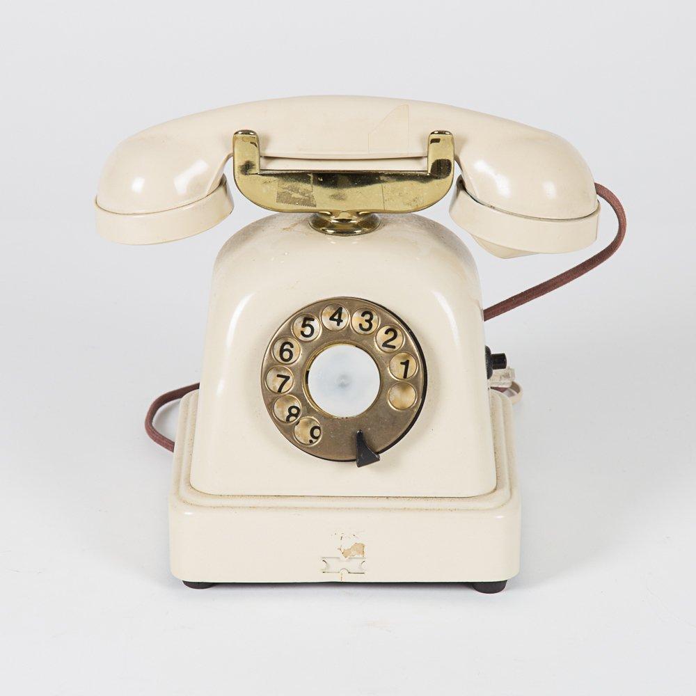 A Vintage Metal Cradle Telephone, 20th Century.