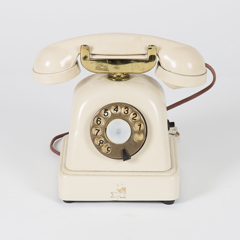 A Vintage Metal Cradle Telephone, 20th Century.