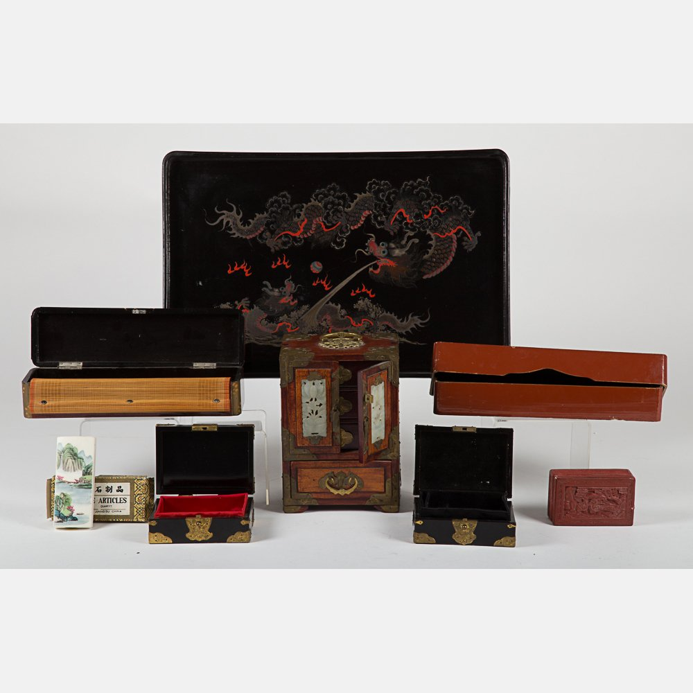 A Miscellaneous Collection of Asian Boxes, 20th