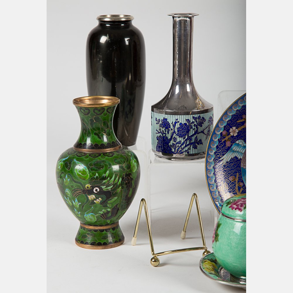 A Miscellaneous Collection of Asian Cloisonne and - 4