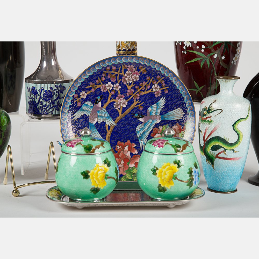 A Miscellaneous Collection of Asian Cloisonne and - 5
