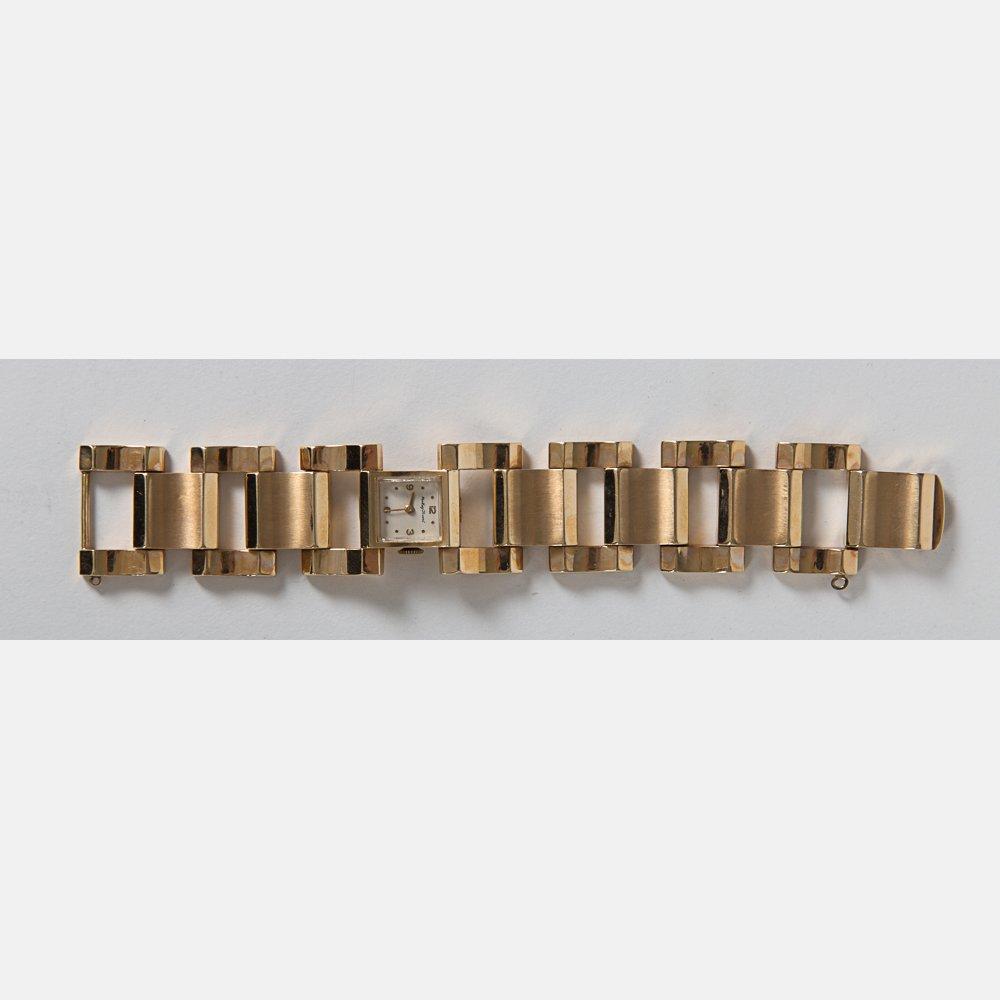 A Mathey Tissot Ladies 14kt. Yellow Gold Wrist Watch,