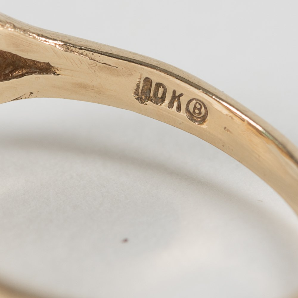 A 14kt. Yellow Gold and Jade Ring, - 4