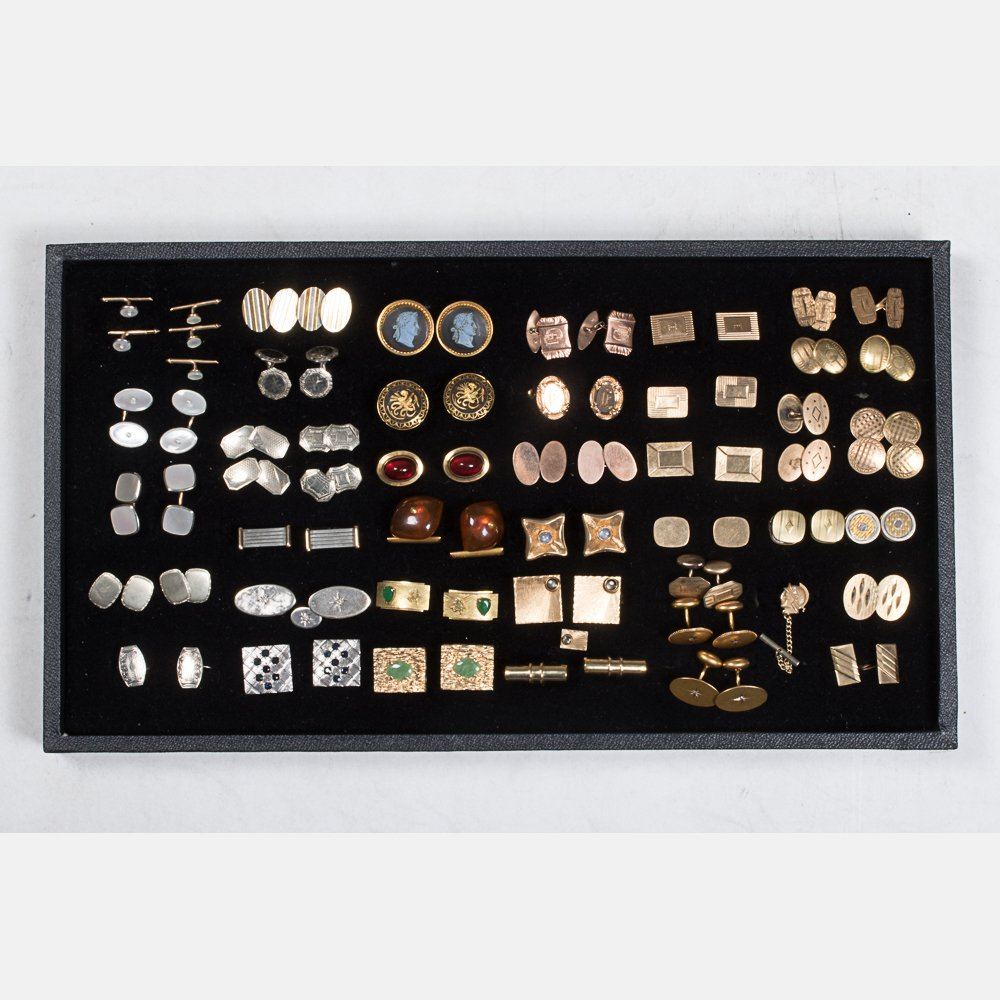 A Miscellaneous Collection of Forty Pairs of Low Karat