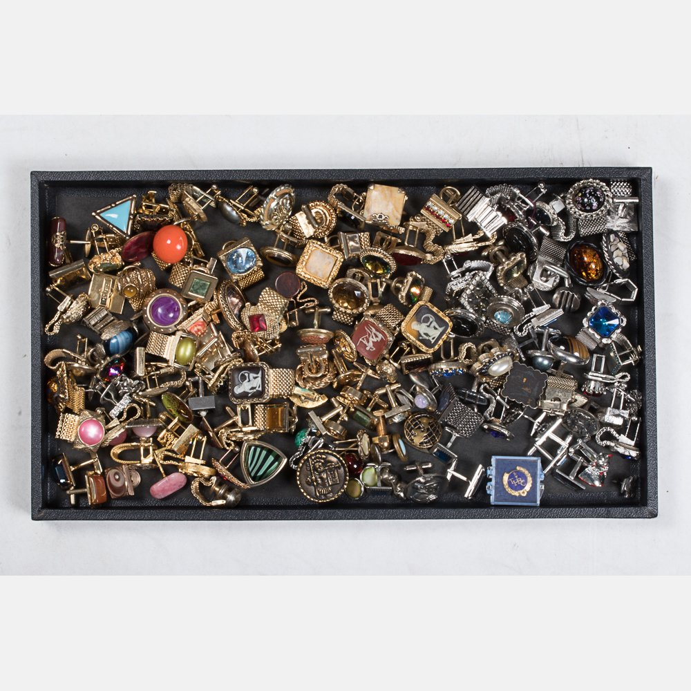 A Miscellaneous Collection of Single Vintage Cufflinks