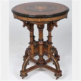 A Rare Victorian Centennial Table, 1776-1876, 19th