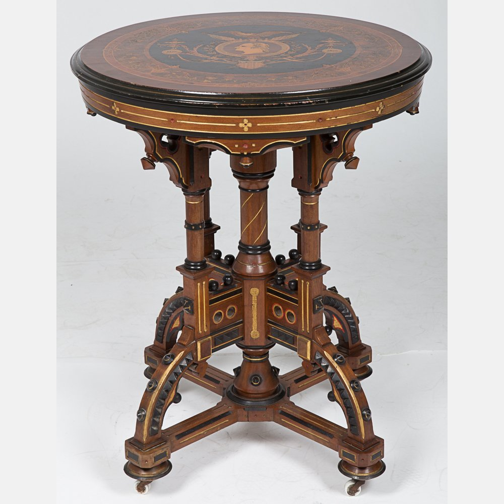 A Rare Victorian Centennial Table, 1776-1876, 19th