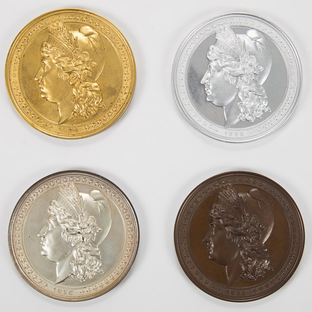 A Set of Four Rare 1892 World's Fair Columbian
