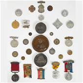 A Miscellaneous Collection of Thirty Copper, Brass,