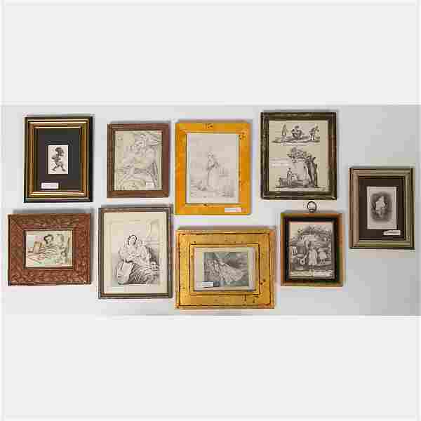 A Miscellaneous Collection of Pencil Drawings by