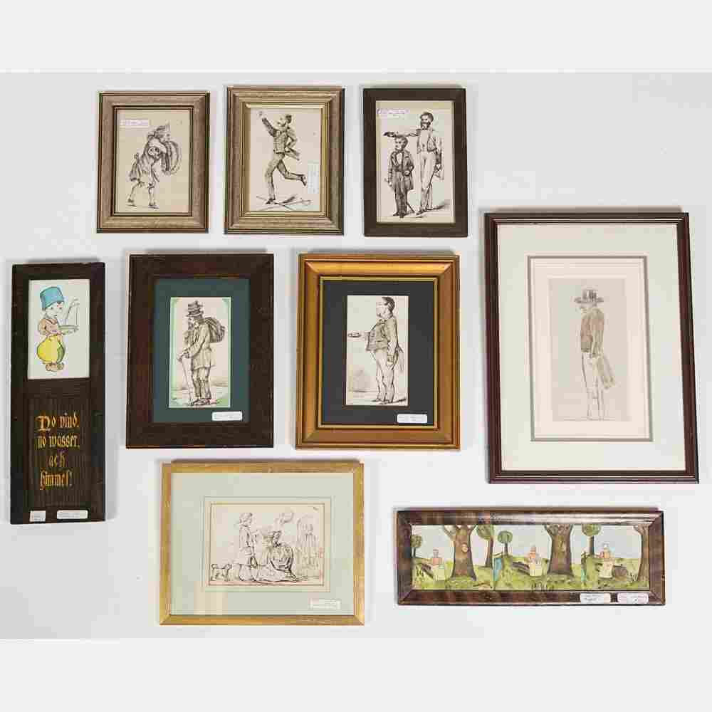 A Miscellaneous Collection of Framed Watercolors and