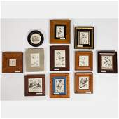 A Miscellaneous Collection of Framed Pen and Ink