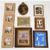 A Miscellaneous Collection of Framed Decorative Items
