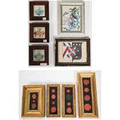 A Collection of Framed Watercolors and Pen/Ink Drawings