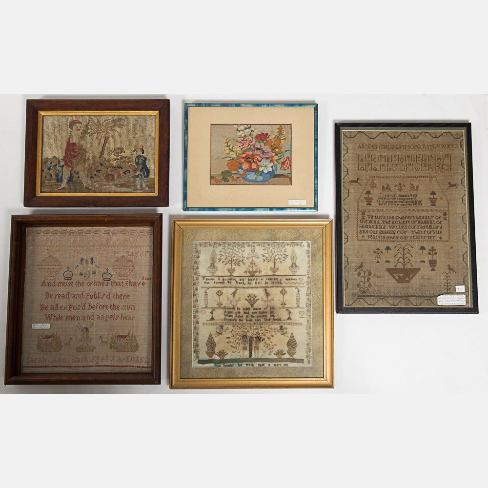 A Miscellaneous Collection of Framed Needlework