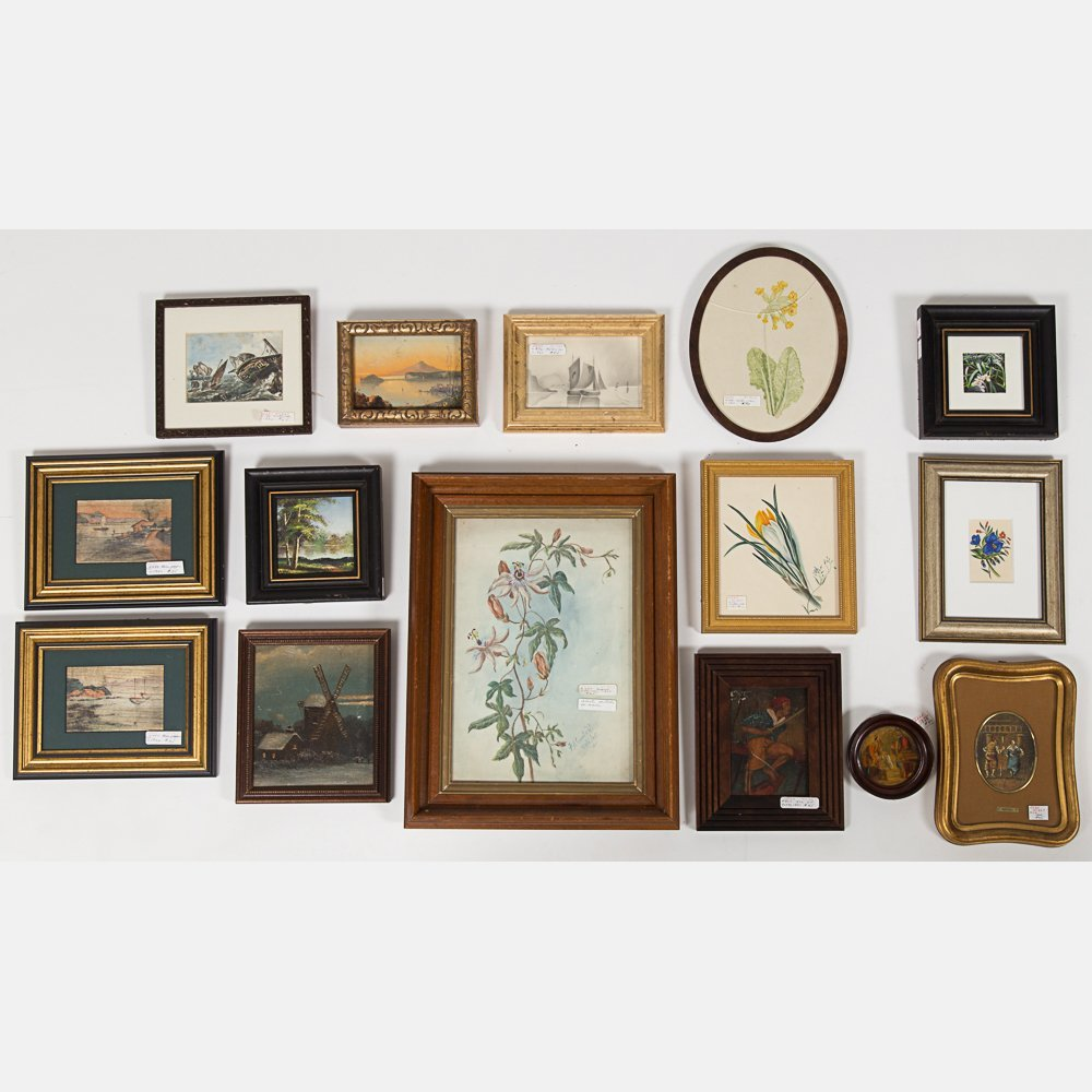 A Miscellaneous Collection of Framed Decorative