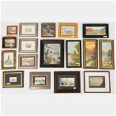 A Miscellaneous Collection of Framed Watercolor Pencil