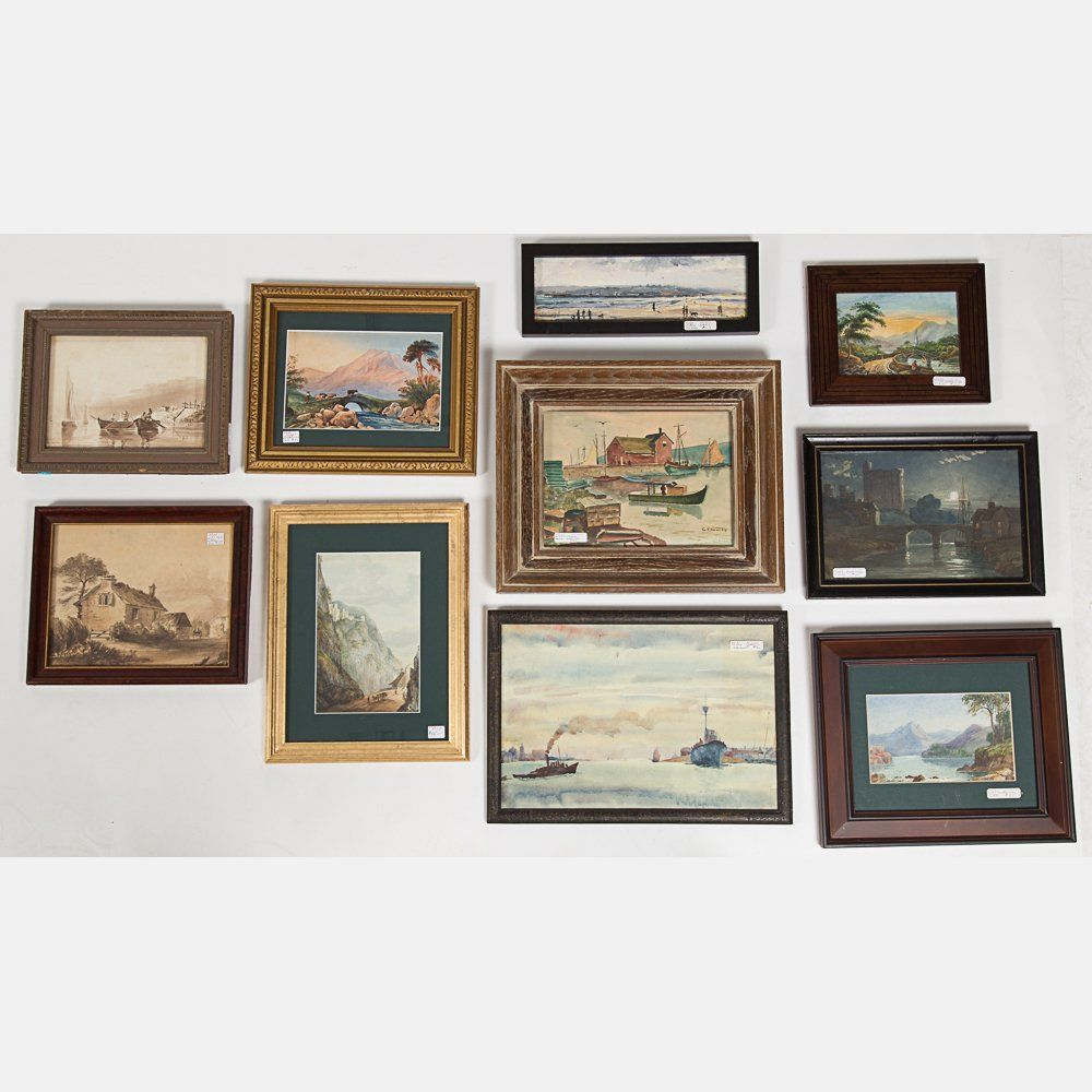 A Miscellaneous Collection of Framed Watercolor