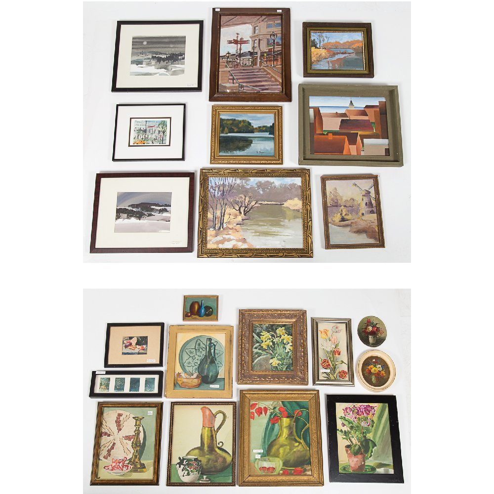 A Miscellaneous Collection of Watercolor and Oil