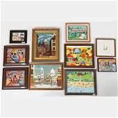 A Miscellaneous Collection of Framed Acrylic and Oil