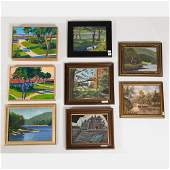 A Miscellaneous Collection of Framed Decorative Oil