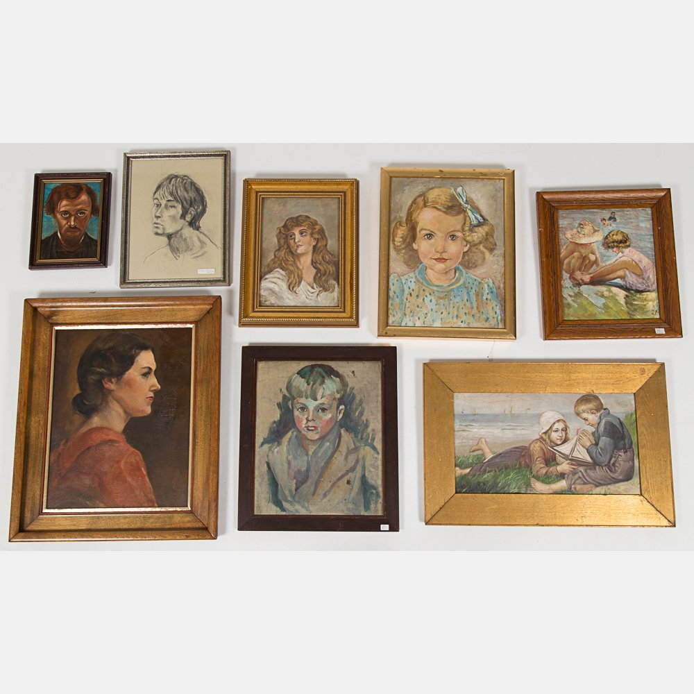 A Miscellaneous Collection of Framed Oil Paintings and