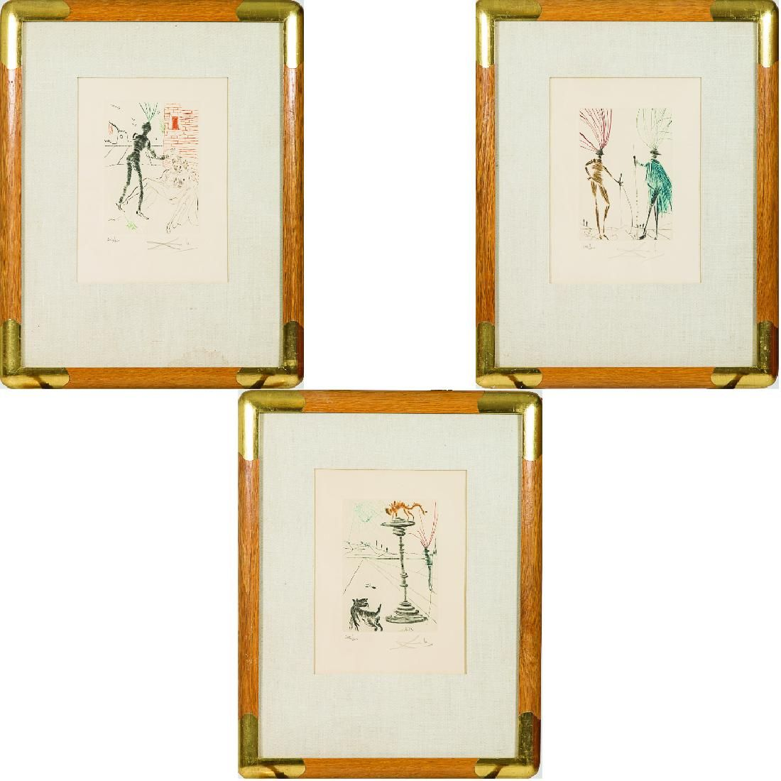 Salvador Dali (1904-1989) Three Works from the
