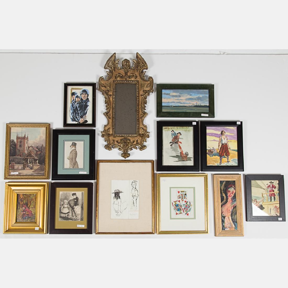 A Miscellaneous Collection of Framed Watercolor and