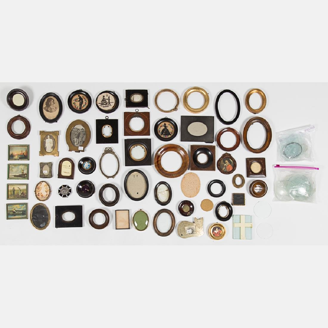 A Miscellaneous Collection of Small Brass, Wood and