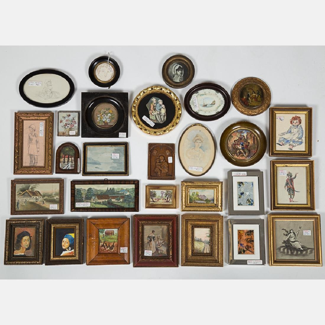 A Miscellaneous Collection of Small Framed Decorative