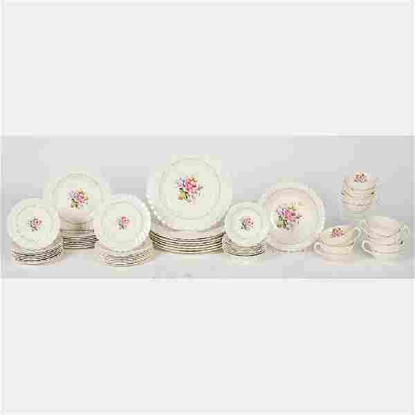 A Partial Royal Staffordshire Porcelain Dinner Service