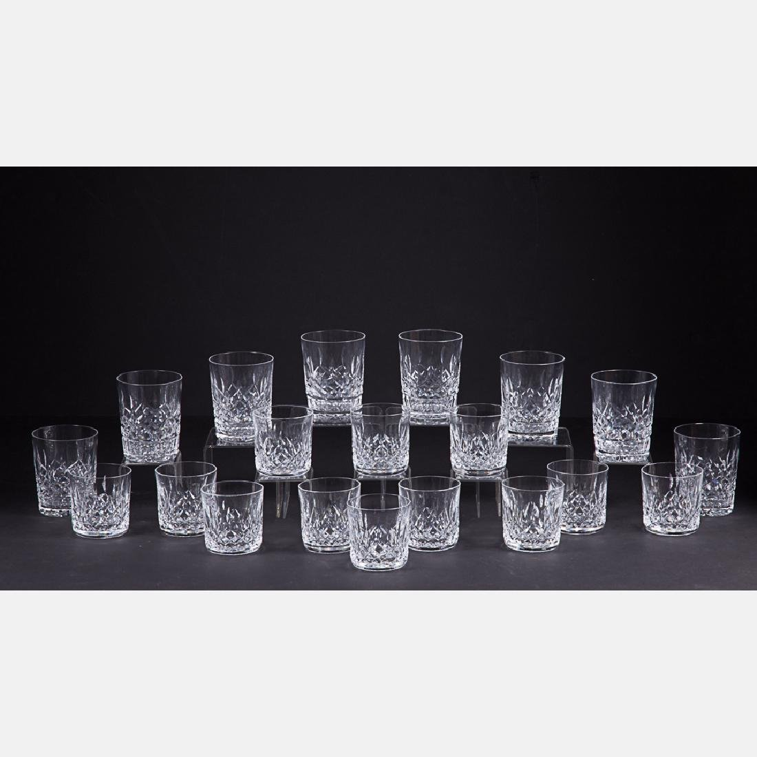 A Set of Twenty Waterford Crystal Old Fashion and