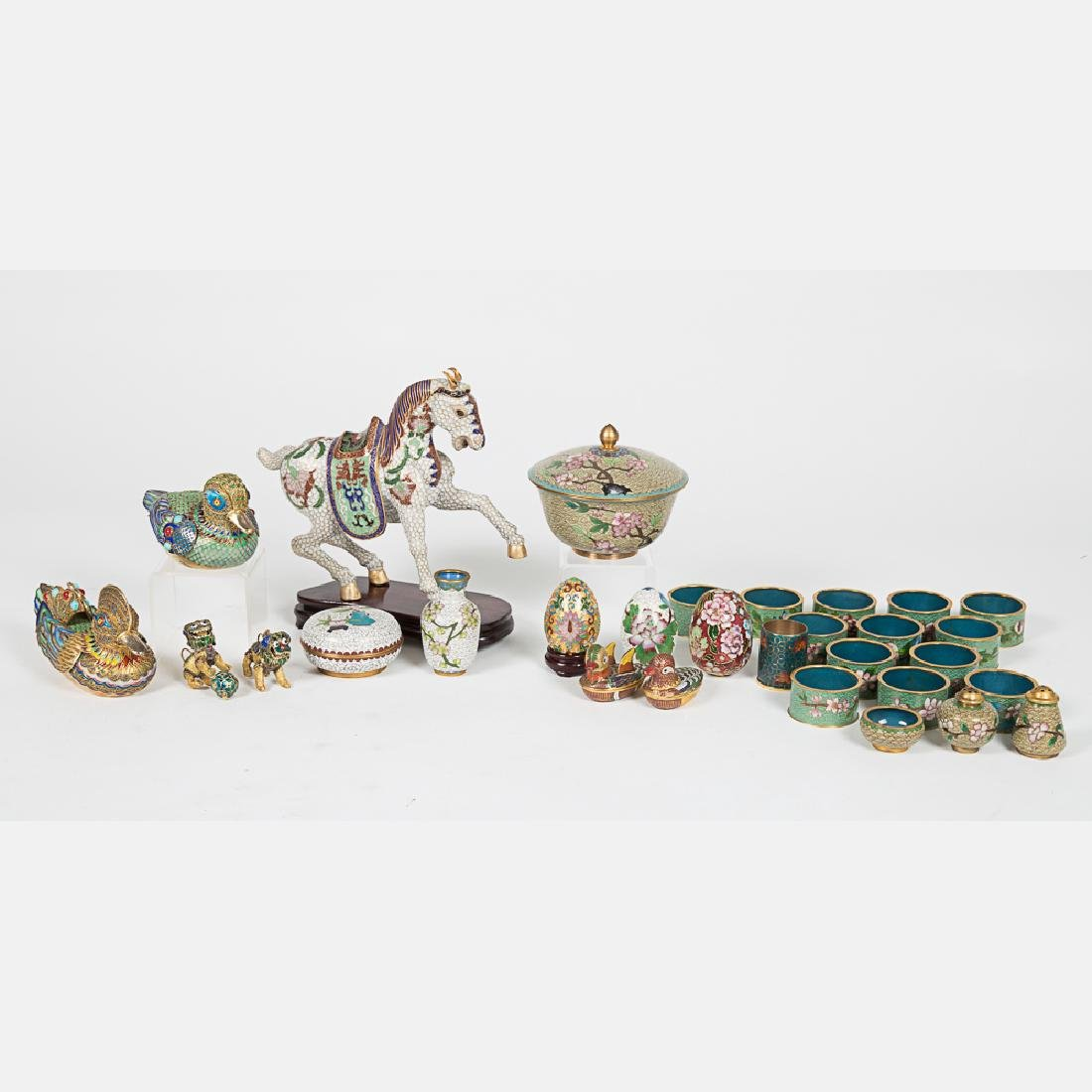 A Miscellaneous Collection of Chinese Cloisonné