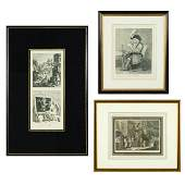 A Group of Three Etchings After William Hogarth