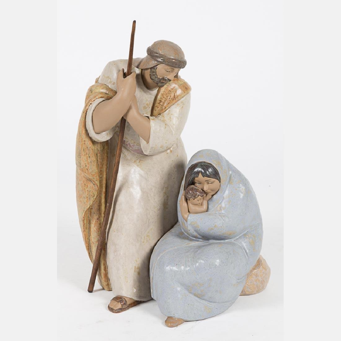 A Lladro 'Blessed Event' Ceramic Figural Group, 20th