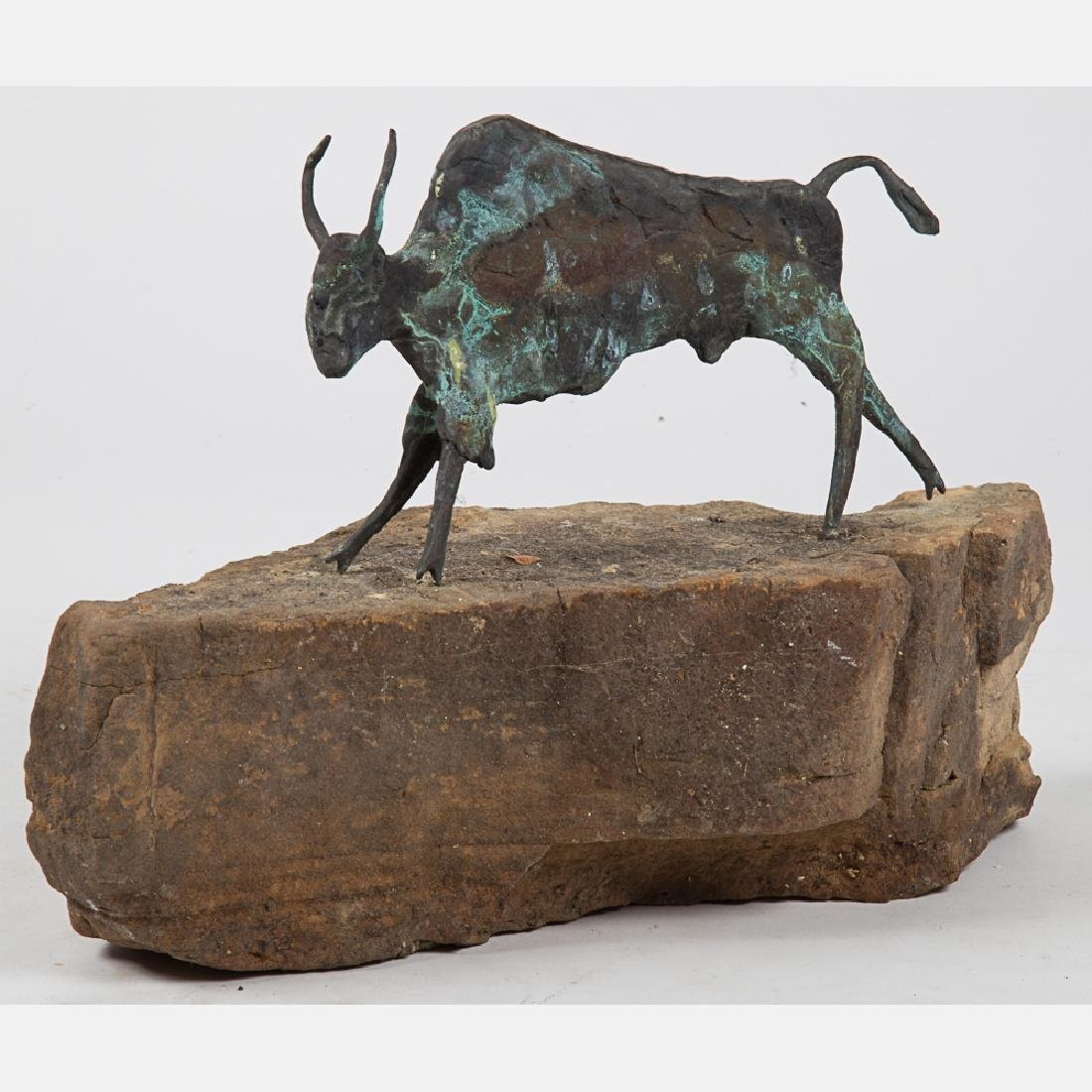 Artist Unknown (20th Century) Buffalo, Cast bronze,