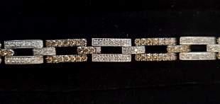 Stunning Estate 14K Diamond Bracelet #2