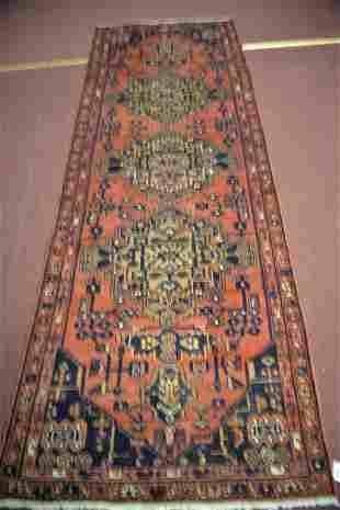 Hamadan Hand Woven Runner Rug 3.6 x 9.4 ft