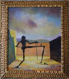 Original in the Manner of Salvador Dali COA